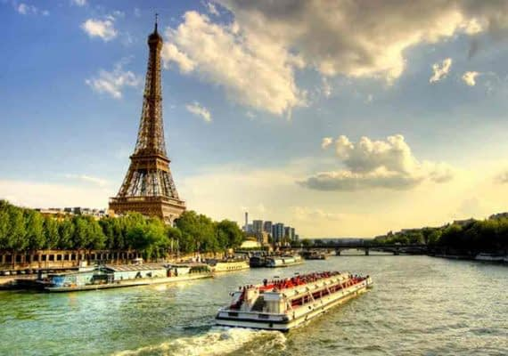 Day 2 – Paris –Guided City Tour-Eiffel Tower visit 2nd Level-River Seine Cruise